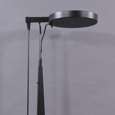 vignette Big black floor lamp Martinelli Luce