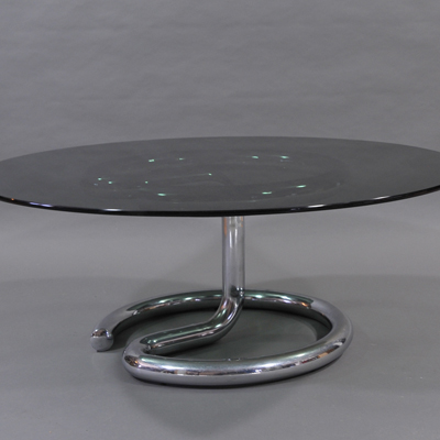 vignette Vintage glass coffee table from the sixties