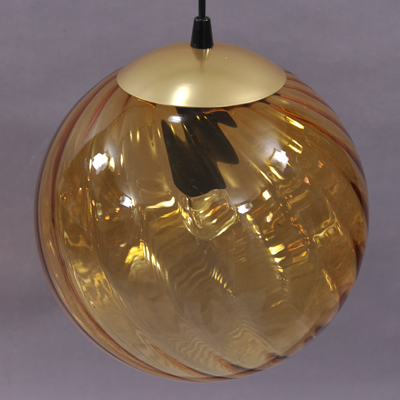 vignette Glass ball hanging lamp from the seventies