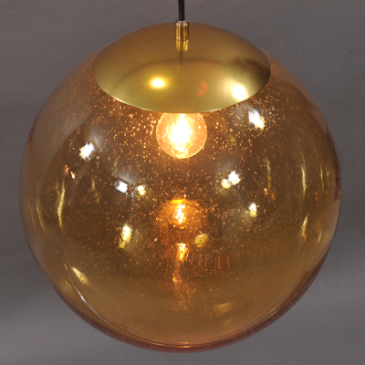 vignette Vintage orange glass ball