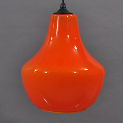vignette Orange glass seventies hanging lamp