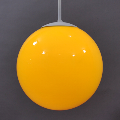 vignette Vintage glass yellow hanging lamp