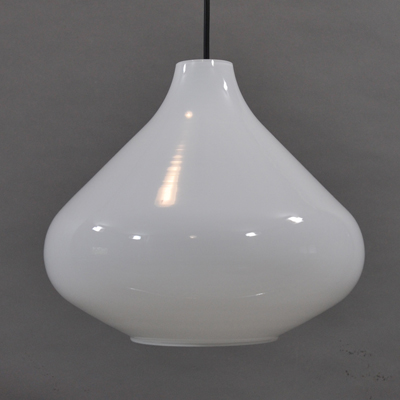 vignette White glass hanging lamp