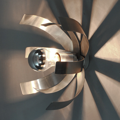 vignette chrome steel wall lamp