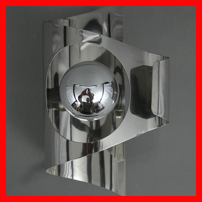 vignette chrome seventies wall lamps