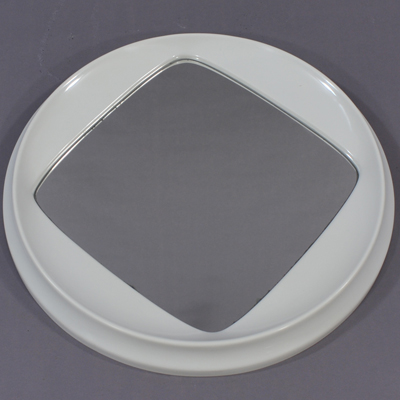vignette Miroir en plastique moulé orange
