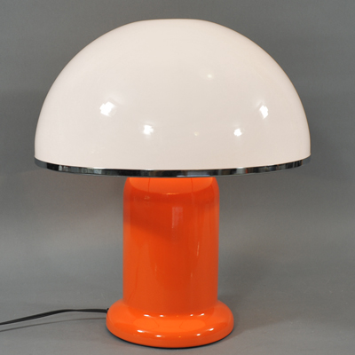vignette Lampe table champignon orange