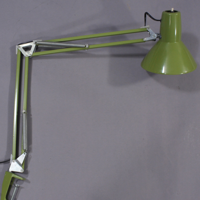 vignette Vintage green desk lamp
