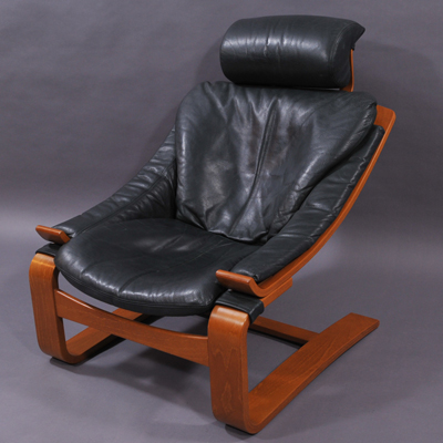 vignette leather Kroken armchair Nelo