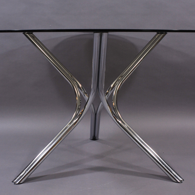 vignette Vintage Roche & Bobois glass table