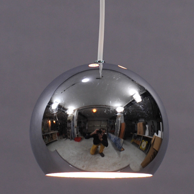 vignette Seventies ball hanging lamp