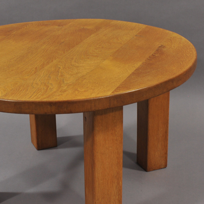 vignette Vintage oak coffe table from the sixties