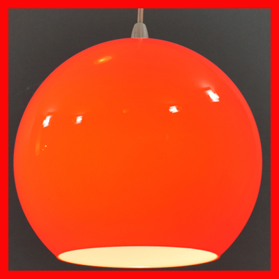 vignette Vintage red ball hanging lamp