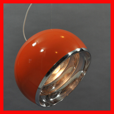 vignette Lustre boule orange orientable type Pallade
