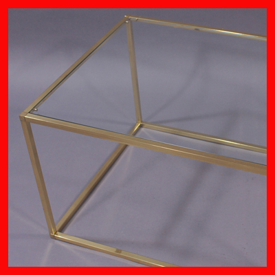 vignette Gold vintage coffee table