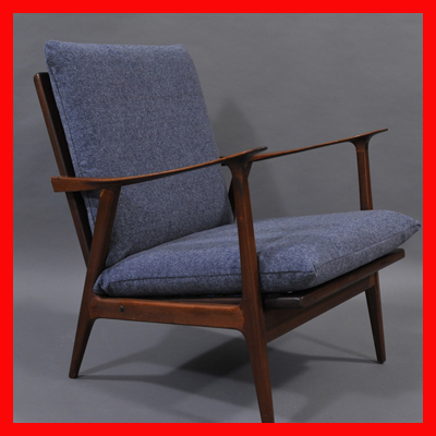 vignette Sixties danish armchairs