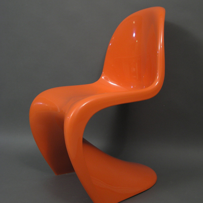 vignette Chaise Panton orange vintage