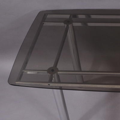 vignette rectangular glass table from the seventies