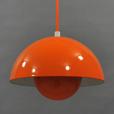 vignette Vintage orange Flower pot hanging lamp