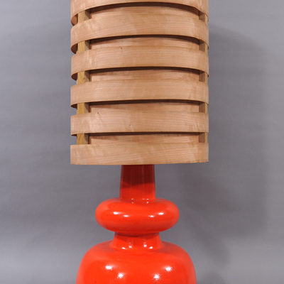 vignette Lampe de table orange vintage