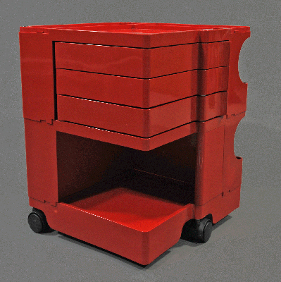 vignette red Boby 2 trolley