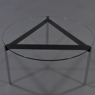 vignette Glass round coffee table