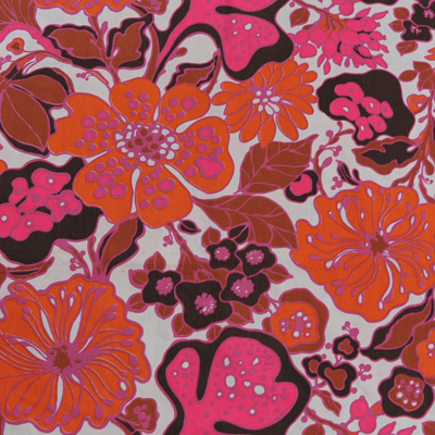 vignette Flower vintage fabric