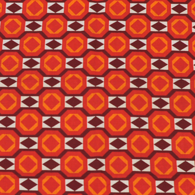 vignette Seventies geometric fabric
