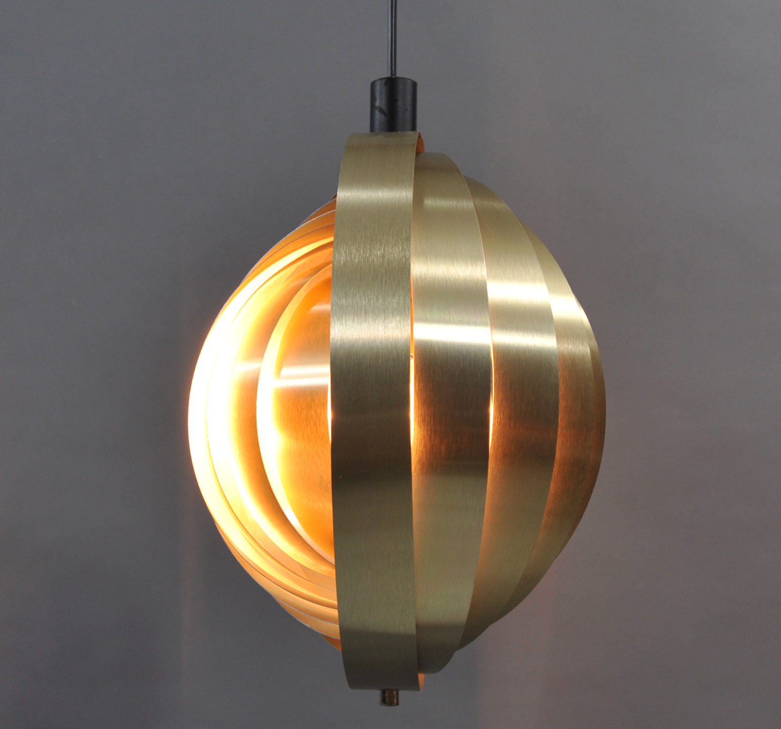suspension boule orange orientable