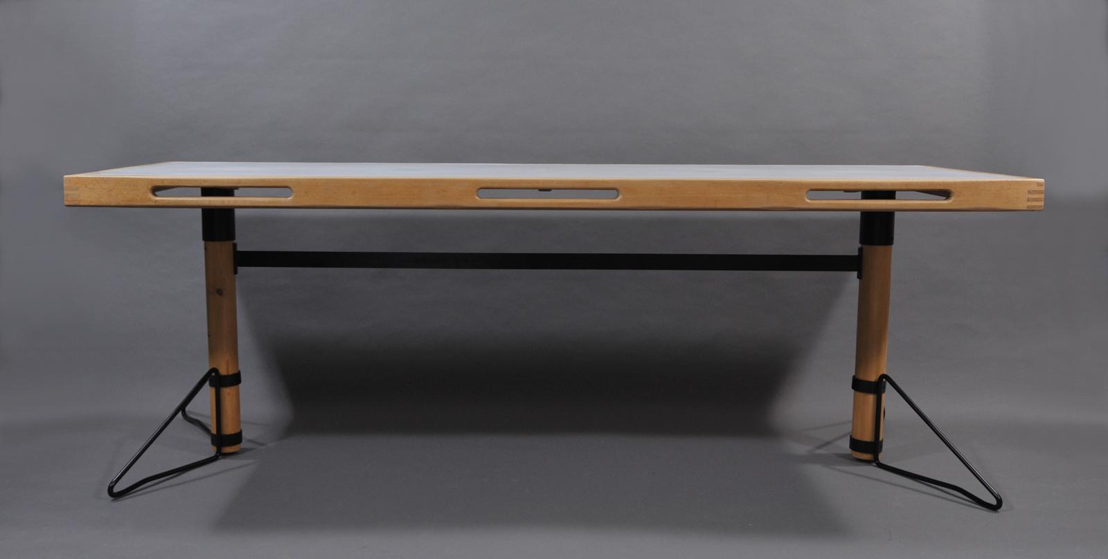 lampe de table orange vintage modulolab. Black Bedroom Furniture Sets. Home Design Ideas