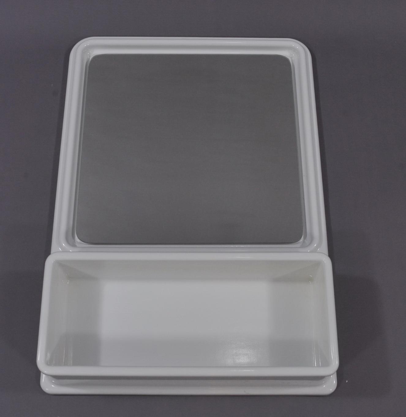 Espejo blanco de pl stico vintage modulolab - Espejo de plastico ...