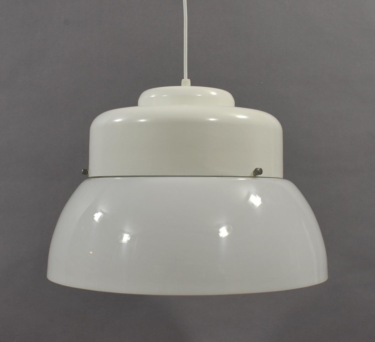 Lustre Blanc Des Annees 70 Modulolab