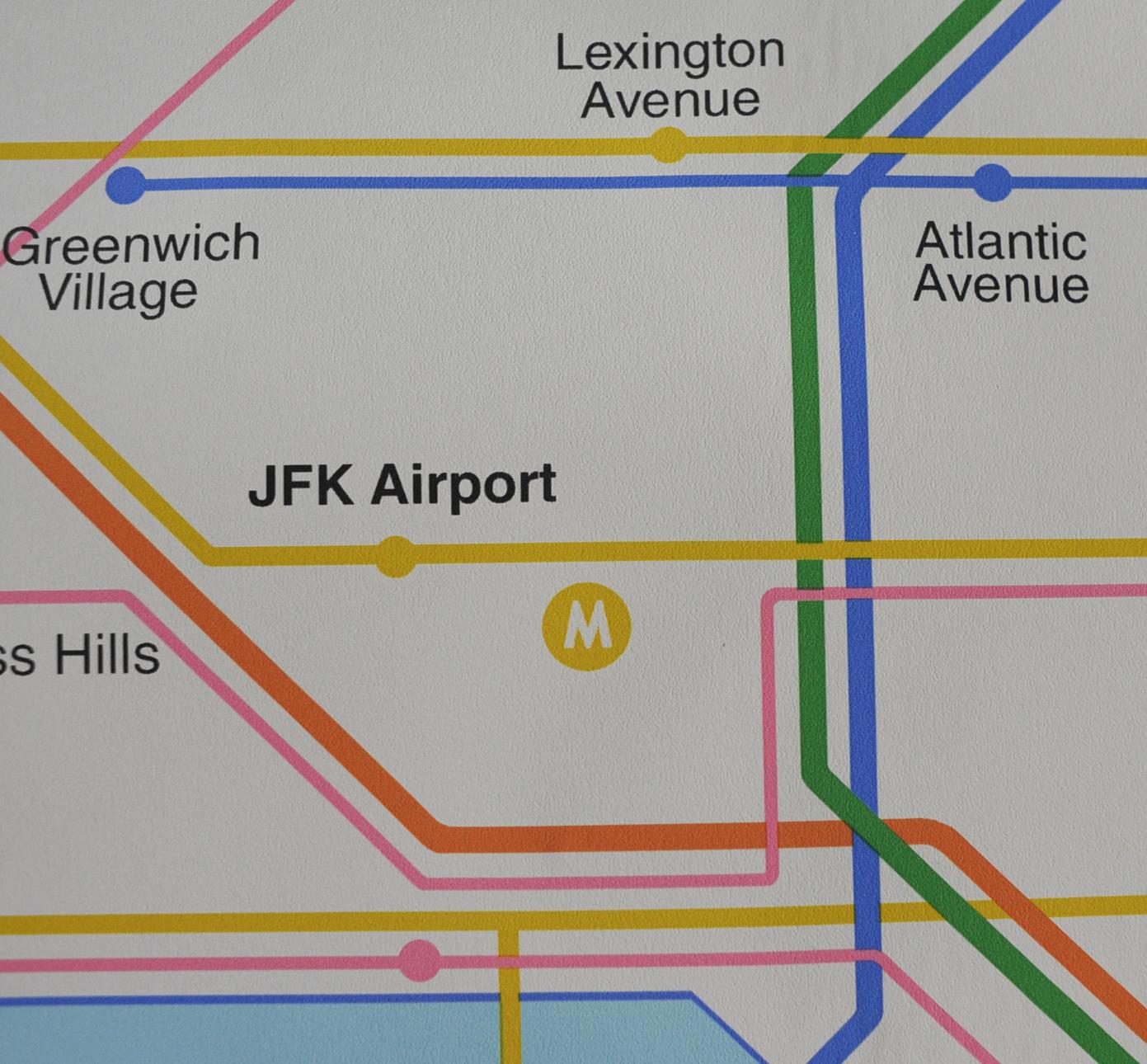 Subway Map Greenwich Village.Vintage New York Subway Map Wall Paper Modulolab