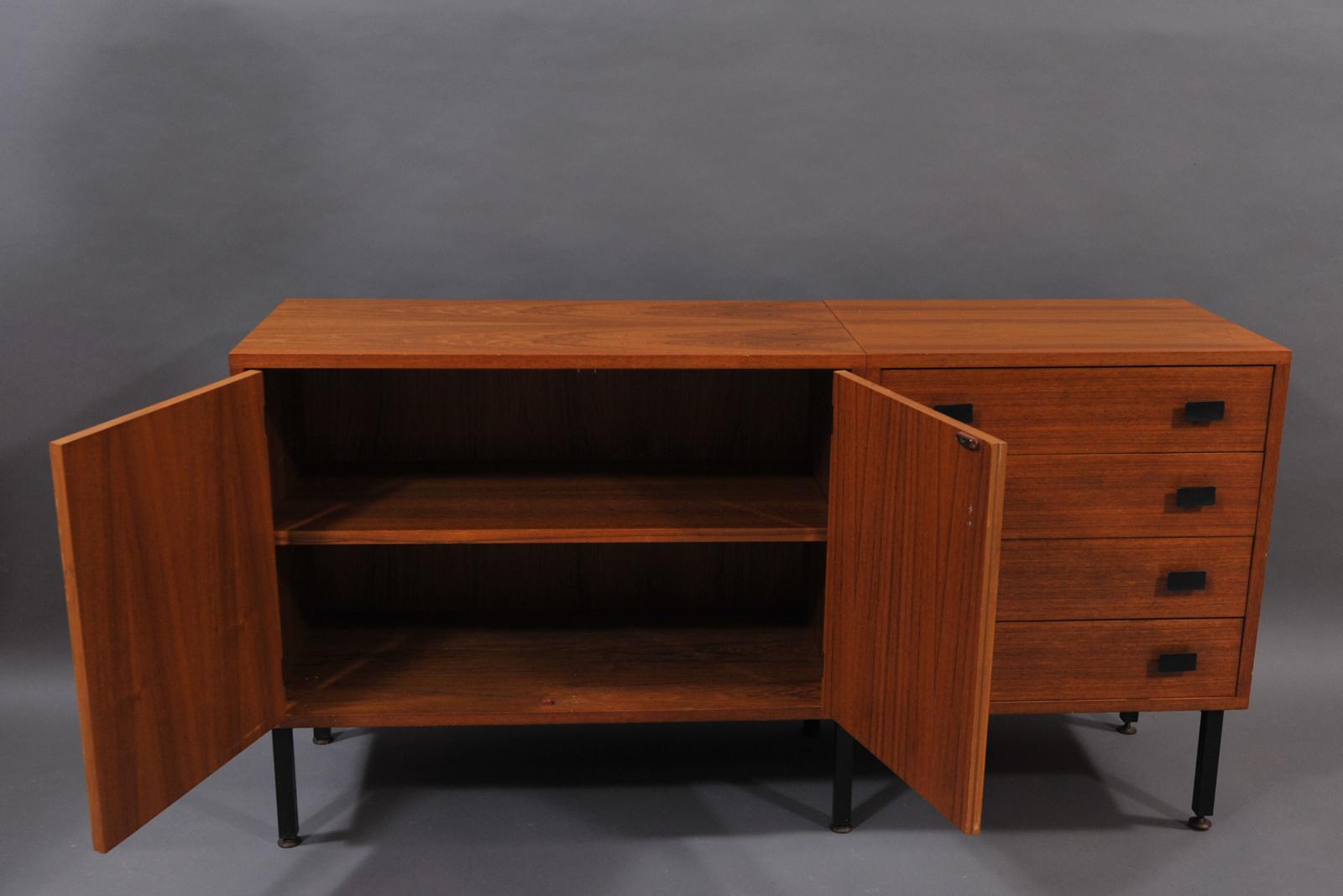 enfilade scandinave en teck modulolab. Black Bedroom Furniture Sets. Home Design Ideas
