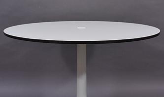 table ronde pied tulipe ann es 70 modulolab. Black Bedroom Furniture Sets. Home Design Ideas